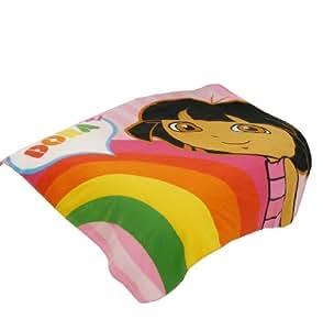 """Plaid Dora l'exploratrice """"Rainbow"""" 120x150 cm"""