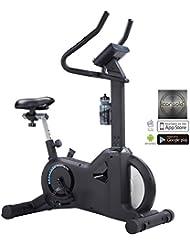AsVIVA H21 Pro Heimtrainer und Ergometer, App & Bluetooth kompatibel, Riemenantrieb inkl. Fitnesscomputer, schwarz