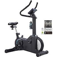 Preisvergleich für AsVIVA H21 Pro Heimtrainer und Ergometer, App & Bluetooth kompatibel, Riemenantrieb inkl. Fitnesscomputer, schwarz