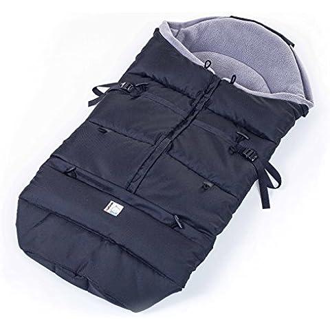 Kutnik Saco de abrigo universal polar para silla de paseo - Negro y gris grafito