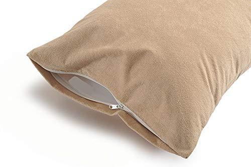 Waterproof & Dustproof Pillow Protector by Uppercut (18x28 inch), Set of 2, Beige