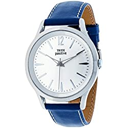 THINKPOSITIVE, Mens watch, Model SE W 130 A Big Milano,Imitation leather strap, Unisex, Color blue