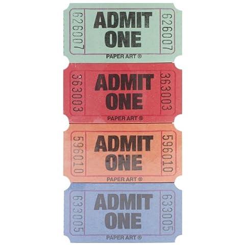 Creative Converting Papier zugeben One Tickets 2000Tickets/roll-red, blau, orange und grün