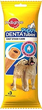 Pedigree Puppy 3 Denta Tubos with Chicken Dogs Treats 72g Case of 6 from Pedigree