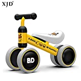 XJD Baby balance Bike Bicycle Children Walker, Toddler Trike, Kids Ride On, Age 10 to 24 Months Child No Foot Pedal Four Wheels Infant Walking Toys for 1-2 Years Old Boys Girls Indoor Outdoor