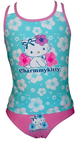 Mädchen Charmmy Kitty 2 pc Badeanzug / Tankini (Kitty N Kostüm)