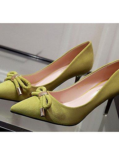 WSS 2016 Chaussures Femme-Décontracté-Noir / Jaune / Vert / Rose / Gris-Talon Aiguille-Talons-Talons-Laine synthétique pink-us8 / eu39 / uk6 / cn39