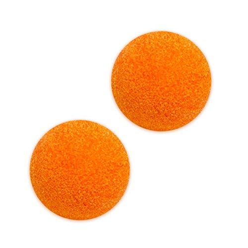 eyepower 2 x Kickerbälle Ø36mm 2er Kickerball Set Tischfussball Tischkicker Ersatzball Turnierball Ball Extra Gripp hart und geräuscharm Orange