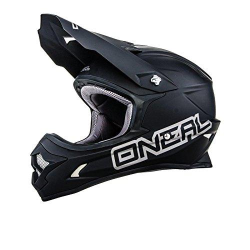 O'Neal 3Series MX Helm MATT Schwarz Moto Cross Enduro Offroad Motorrad, 0623M-02, Größe Medium (57 - 58 cm)