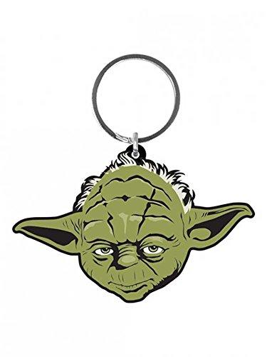 Preisvergleich Produktbild Star Wars - Yoda - Gummi Schlüsselanhänger Keyring - Größe ca. 4,5x6 cm