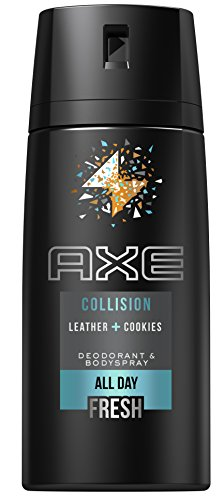 AXE Deospray Collision Leather und Cookies ohne Aluminium 150 ml, 3er Pack (3 x 150 ml)