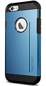 Spigen Coque iPhone 6 [FONCTION SUPPORT] Coque Protectrice pour iPhone 6 [Tough Armor S] [Electric Blue] Protection EXTREME double couche et fonction support pour iPhone 6 (2014) - Electric Blue (SGP11041)