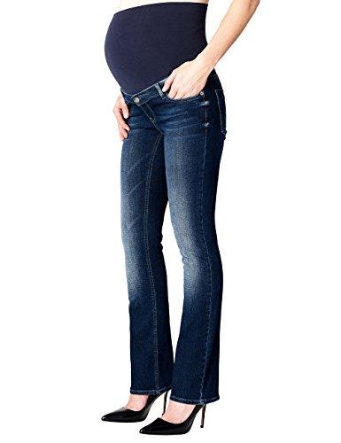 ESPRIT Maternity Damen Umstandsjeans Pants Denim Otb Bootcut, Blau (Darkwash 910), 34 (Herstellergröße: 34/32)