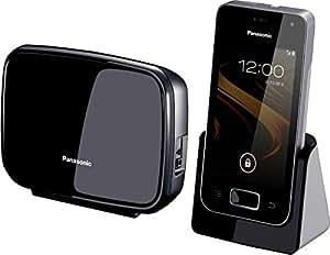 Panasonic KX-PRX120FRW Téléphone sans fil DECT avec Répondeur Wi-Fi/Bluetooth Noir