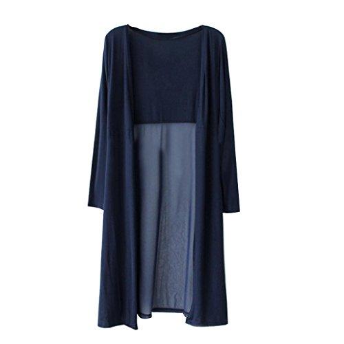 Homebaby® copricostume mare cardigan lungo elegante donna tops - chiffon vintage estivo scialle sexy camicetta kimono vestito lungo estate boho tunica etnica abito da spiaggia (libero, marina)