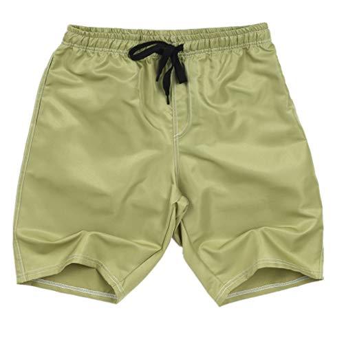 Xmiral Shorts Herren Badehose Einfarbig Lässig Sportlich Groß Strand Kurze Hosen Boxing Shorts Sweatshorts Sportshorts Chino-Hose(Armeegrün,3XL)