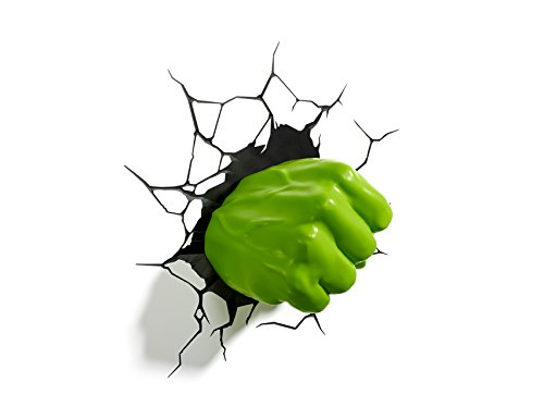 3D LIGHT FX MARVEL HULK DERECHO PUÑO 3D DECO LED LAMPARA DE PARED (DESCONTINUADO POR FABRICANTE)