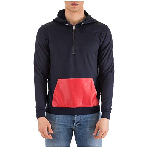 4490b950f47 Fendi Men s Hoodie Sweatshirt Sweat blu UK Size 46 (UK 36) FY07041LTF0CRH
