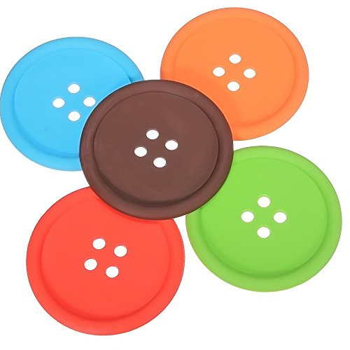 riscaldamento casa 10 pz in Silicone pulsante forma Coaster vetro Cup Mat bere Placemat casa riscaldamento