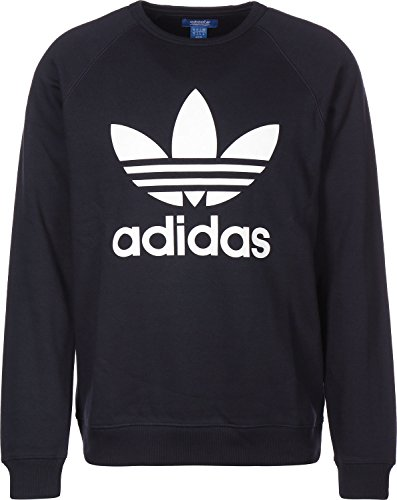 adidas Herren Trefoil Fleece Crew Sweatshirt, Medium Blau (tinley)
