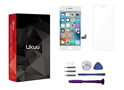 Ukuu iphone7 touch screen schermo lcd completo assemblato touch screen digitizer +libero strumento kit -bianco