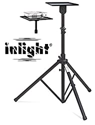 Inlight Universal Projector Floor Stand, Adjustable Between 4 Feet to 6 Feet Height From The Ground