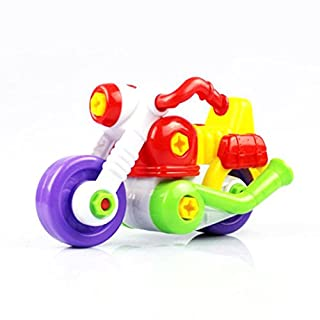Atdoshop(TM) Kids Child Disassembly And Assembly Cartoon Motorcycle Toy With Tool Christmas Gift by atdoshop