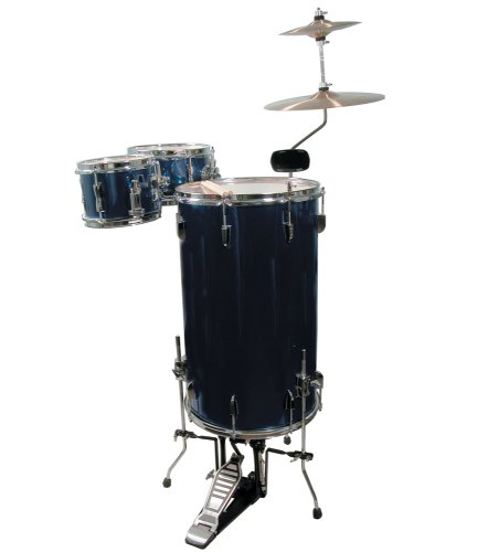 GP Percussion GP75MB Cocktail Drum Set (Mitternachtsblau) -