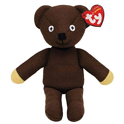 Mr Bean Cute Knitted 25cm Beanie Bear by Ty (Official Licensed Souvenir)