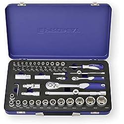 Promat Steckschlüsselsatz S4000821190 1/4 + 1/2 Zoll 55 tlg. 4-32 mm 6 KT, PH/PZD/TX