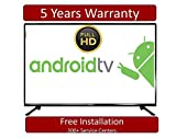 BlackOx 108 cm (43 Inches) Full HD LED Smart Android TV 45LF4301 (Black) (model_year 2018)