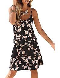 763c284df01 Happy Sailed Womens Casual Print Sleeveless High Neck Short Sundress
