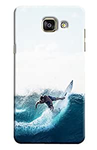 Blue Throat Man Surfing In Sea Printed Designer Back Cover/ Case For Samsung Galaxy A5 2016