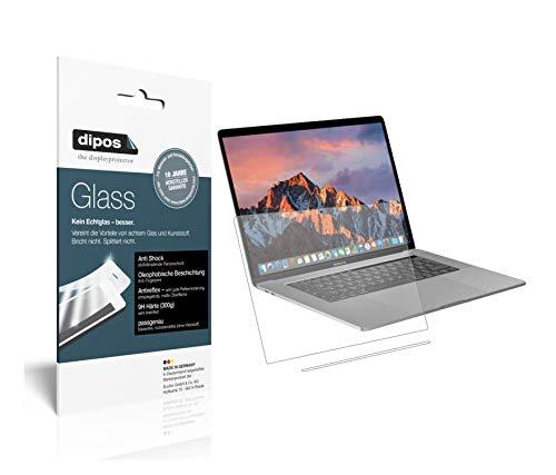 dipos I 2X Panzerfolie matt passend für Apple MacBook Pro 15 Zoll (2019) Touchbar Schutzfolie 9H Bildschirmschutz-Folie