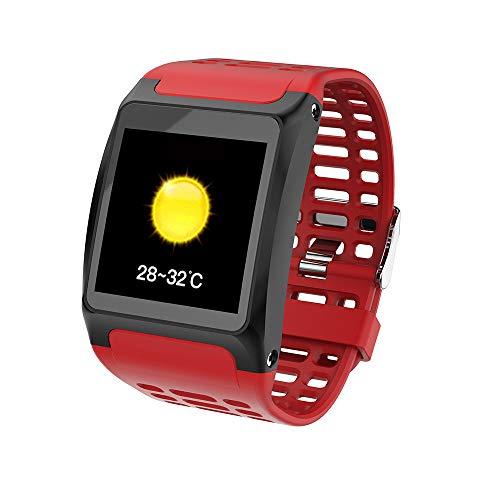 Fulltime E-Gadget Smart Watch,1,3 Zoll Pulsuhr Armband IP67 Wasserdichte Armband für iOS Android (Rot)