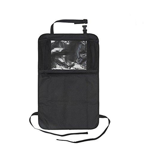 Auto Companion Kick Mats Auto-Rückenlehnentaschen, Auto-Organiser, wasserdichter Rückenlehnenschutz mit 12 Zoll (30,5cm) großer Tablet-Halterung