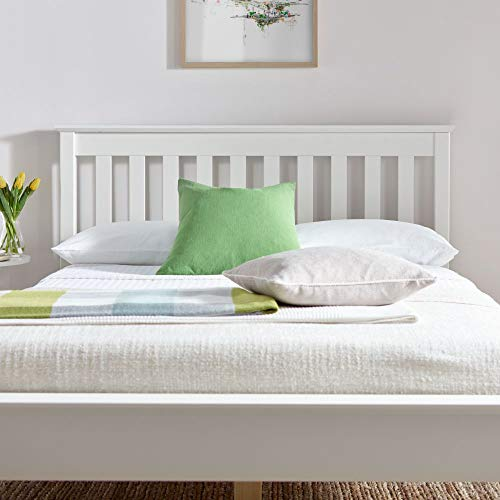 Happy Beds Grace Low Foot End Bed White Wooden Frame Only 5' King Size 150 x 200 cm