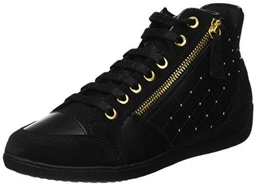 Geox D Myria C, Sneaker a Collo Alto Donna, Nero (...