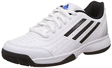 adidas Unisex Sonic Attack K White, Black and Silver Sports Shoes  - 11 kids UK/India (29 EU)
