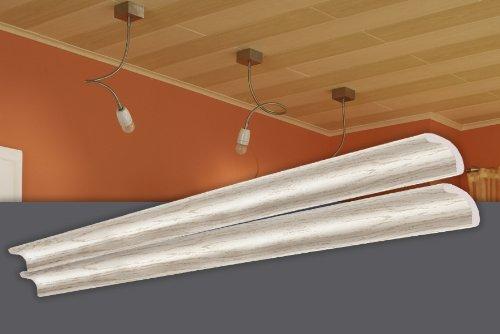 Preisvergleich Produktbild Decosa Randleiste esche weiß, Länge 1 m - SONDERPREIS 15 Stück