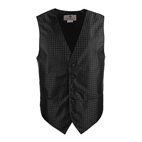 YGA1B04 Motif Hommes Gilet Cravate Boutons de manchette Mouchoir ??N?ud papillon par Y&G VS1028-Noir