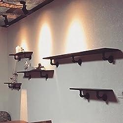Paredes estante de la pared del estante creativo retro de tableros de madera maciza colgar de la pared del estante de hierro Palabra Andamio estante de libro ( Tamaño : XXXL )