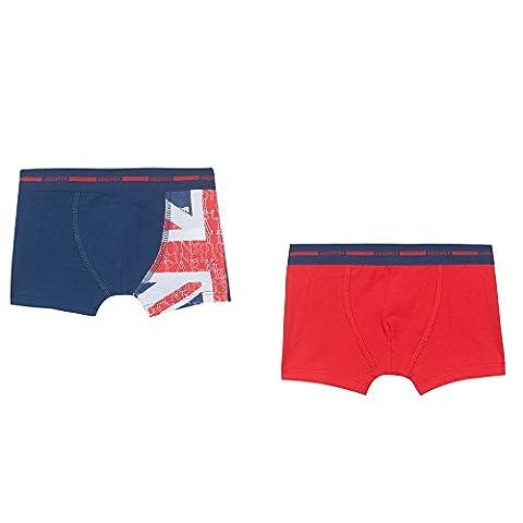 Absorba Underwear, Boxer Garçon, Bleu (Hussard), 3 Ans (Taille Fabricant: 3A) (lot de 2)