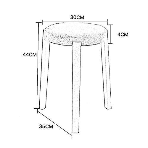 MU Creative Nordic Modern Wooden Support Tapizado Reposapiés Cambio de Zapatos Taburete Cómodo Tejido Funda de Lino extraíble y 4 Patas Sentado,Gris