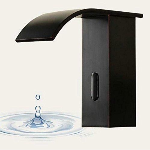 SADASD Badezimmer Waschbecken Wasserhahn ganze Kupfer Schwarz Orb Schwarz matt einzelne Bohrung Bad Hochwertige moderne Home Wasserhähne im Bad (warmes und kaltes - Waschbecken Wasserhahn Einzelne Badezimmer