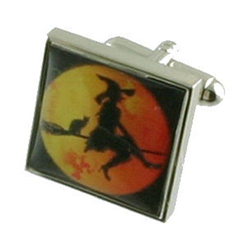 Halloween Designer Schwere Gewicht Solide Sterling Silber 925Manschettenknöpfe + Personalisiertes Geschenk Nachricht Manschettenknöpfe Box