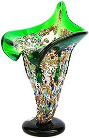 YourMurano Vaso in vetro di Murano con decori murrini, Made in Italy, Vetro soffiato, Design moderno, Fatto a