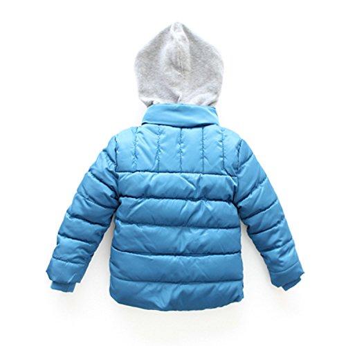 katomi Kinder Kleidungsstücke Jungen Daunenjacke Glengarry Hellblau