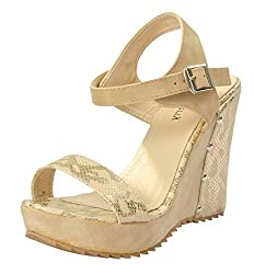 Shuberry Womens Latest Collection, Comfortable & Fashionable Beige Fashion Sandals - 37 EU