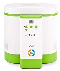 Clatronic ROYO0101WG 1.5L 55W yogurt maker - Yogurt Makers (1.5 L, green, White, 42 °C, 55 W, 220-240 V, 265 mm)